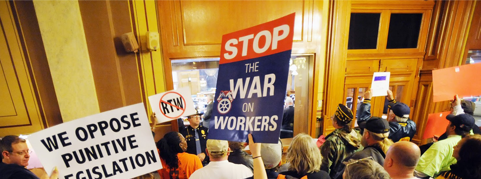 """Indiana's """"Right to Work"""" law, which sharply divided the state, continues to face legal challenges."""