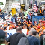 Construction Workers Counter de Blasio's Talking Points with Rally, Assemblymen Speeches