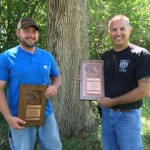 Pair of IBEW Members Honored for Rescuing Man from Burning Pickup Truck